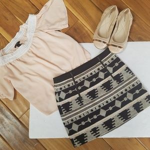 Top Shop Tribal Mini Skirt